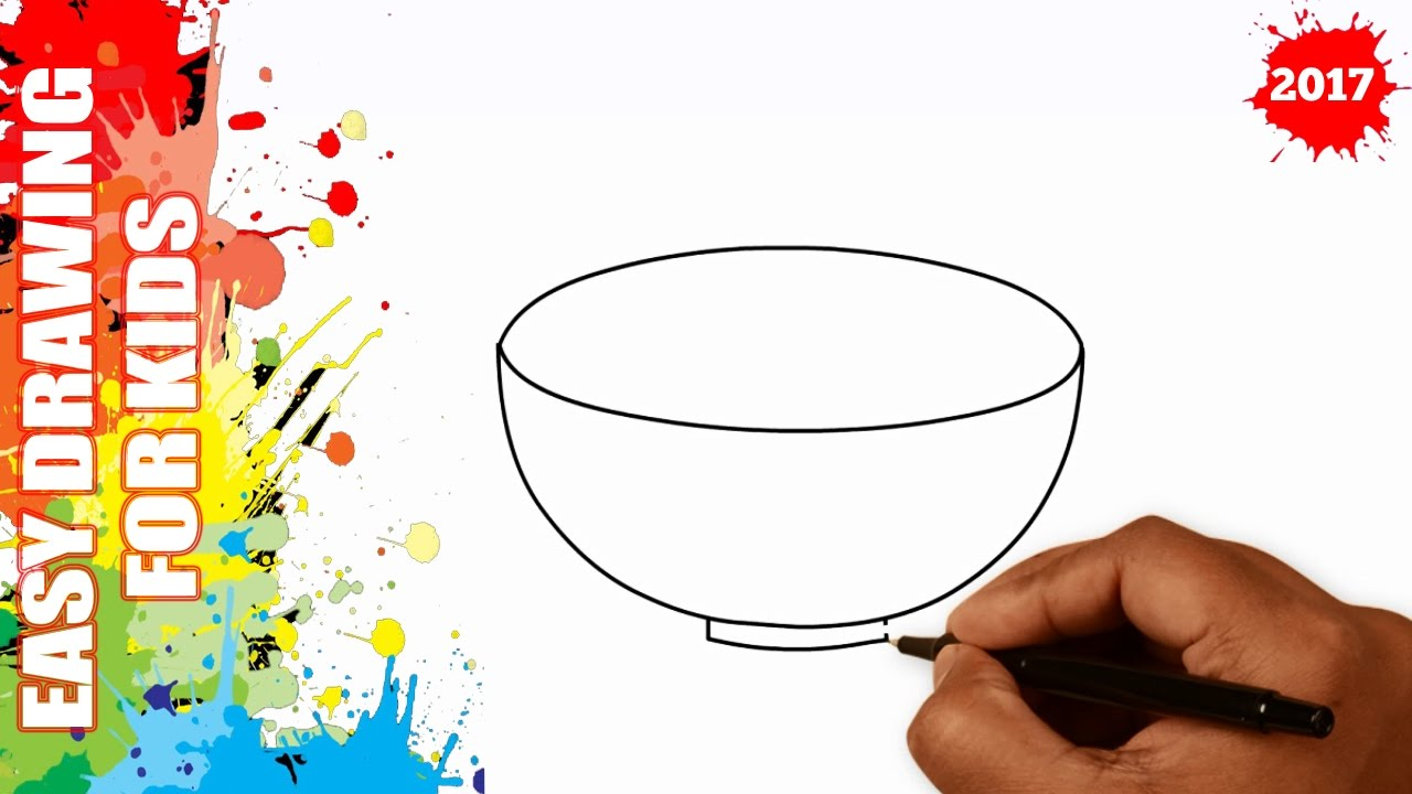 1280x720 How To Draw A Bowl Easy For Kids In 40s