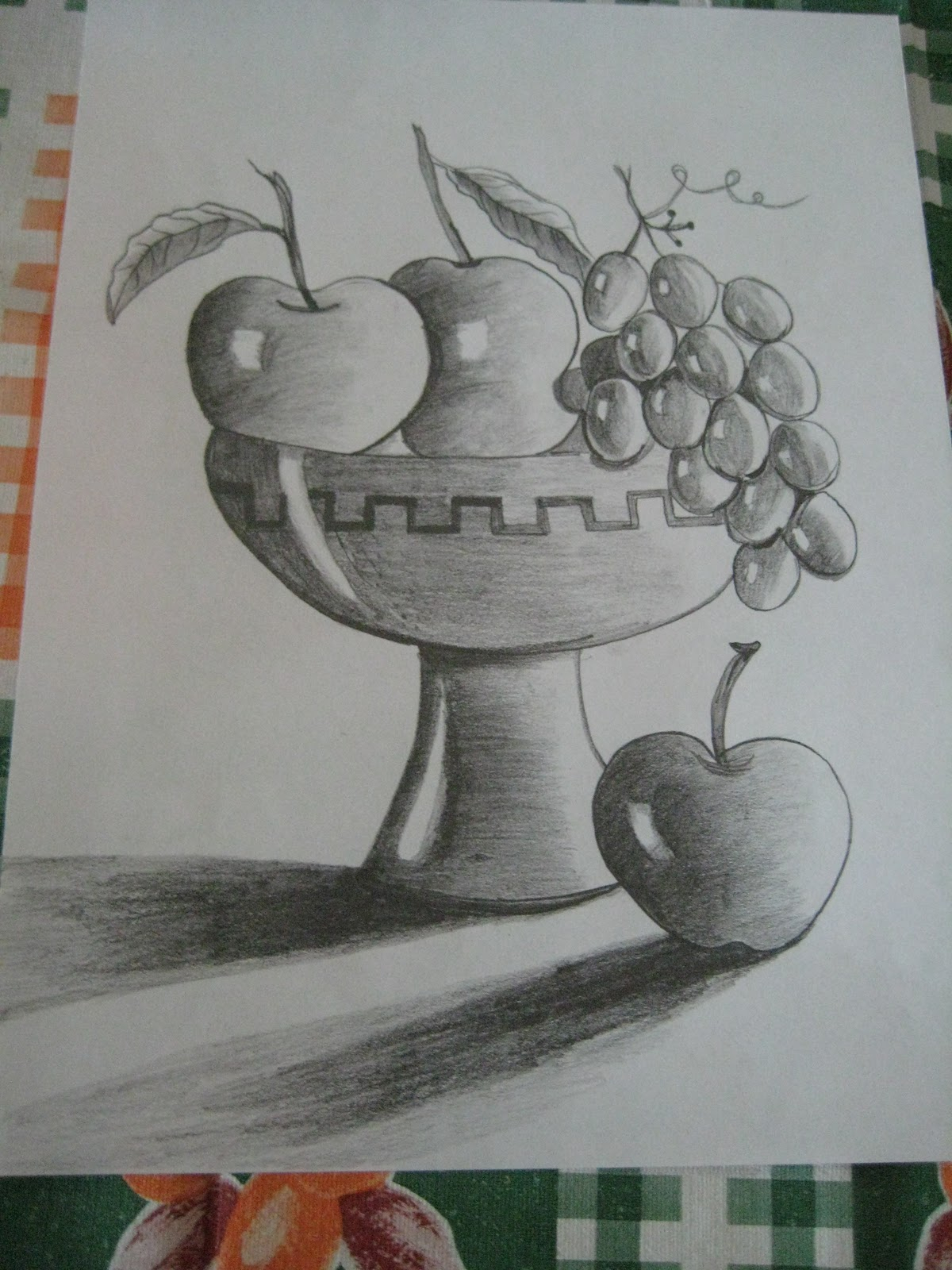 1200x1600 Easy Pencil Shading Drawings Of Fruits Creations Of Mythili Fruit