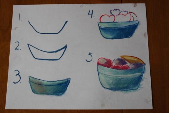 580x386 Fruit Bowl A Pastels Tutorial