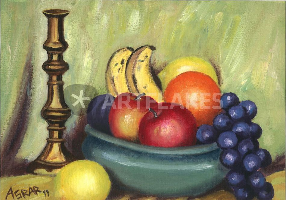 950x665 Fruits In A Bowl Drawing Art Prints And Posters By Asrar Al
