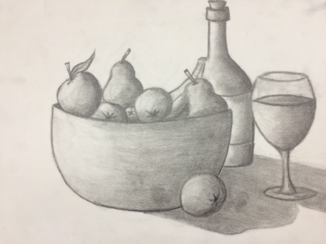 640x480 Gallery Fruit Bowl Drawing,