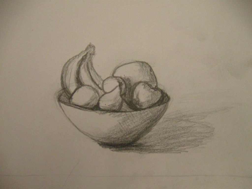 1024x768 Pencil Sketches Of Fruits Pencil Drawing Of Fruit Pencil Sketch