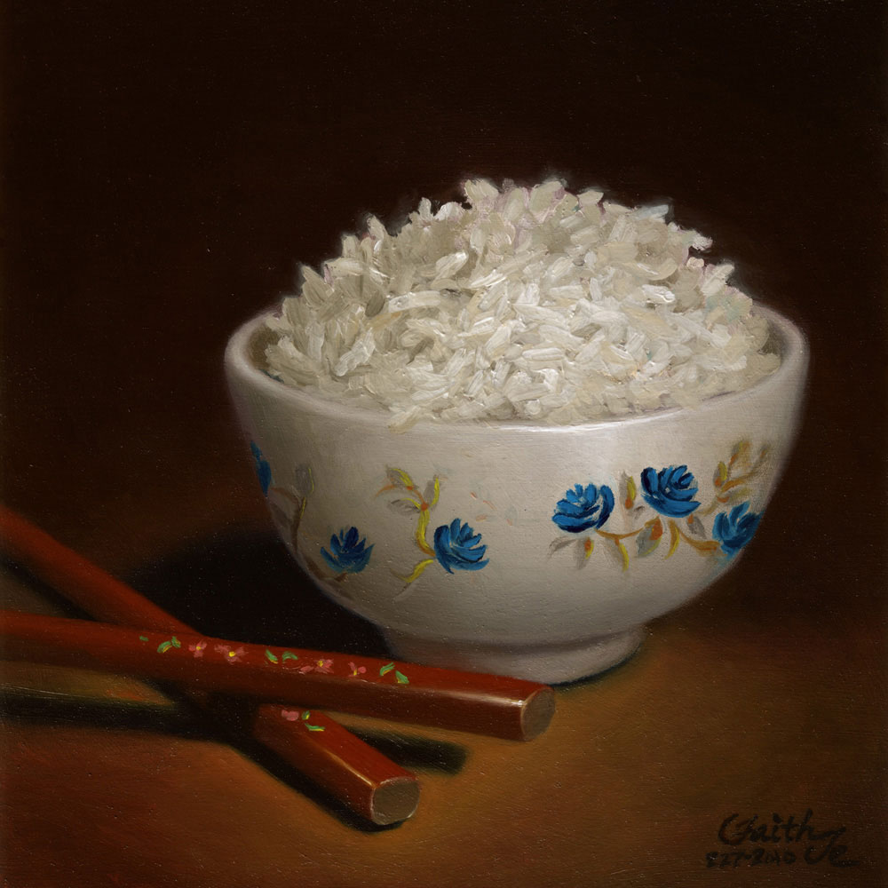 1000x1000 A Bowl Of Rice Painting In Oils By Faith Te Daily Paintings