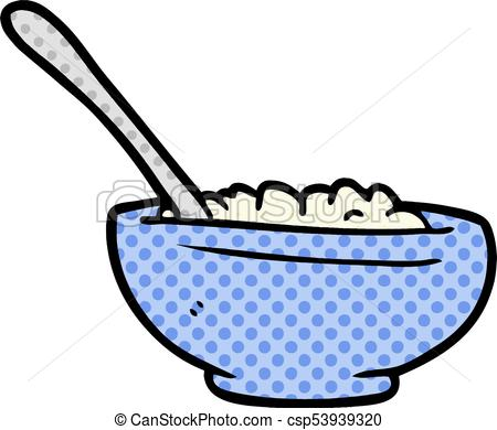 450x390 Cartoon Bowl Of Rice Vector Illustration