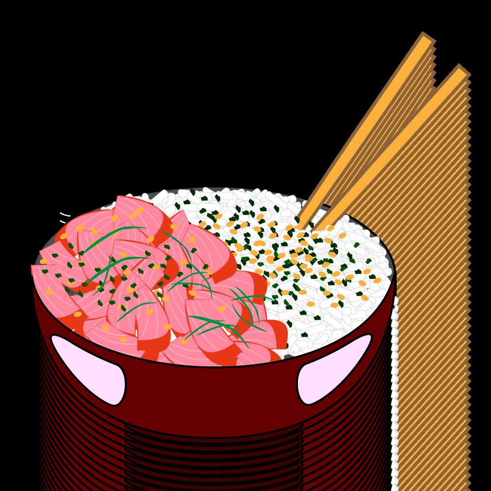1000x1000 Poke Bowl And Rice. Illustrator Graphic. Hawaiian Graphics
