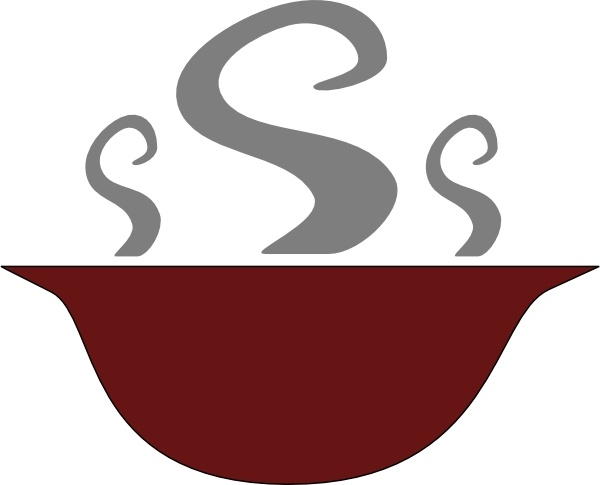 600x485 Bowl Of Steaming Soup Clip Art Free Vector In Open Office Drawing