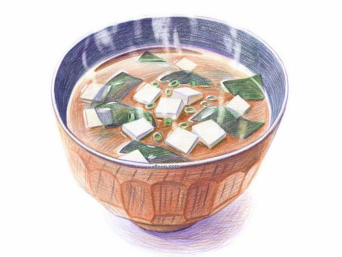 700x525 A Bowl Of Hot Miso Soup With Seaweed And Tofu Robecca