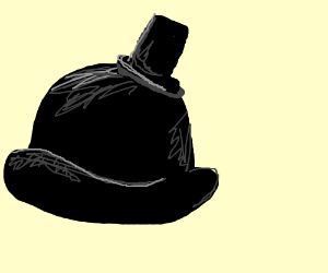 300x250 A Bowler Hat Wearing A Top Hat