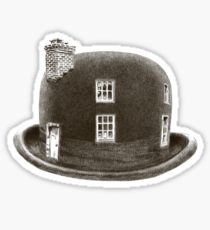 210x230 Bowler Hat Drawing Stickers Redbubble