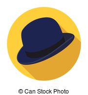 180x195 Bowler Hat Icon In Black Style Isolated On White Background