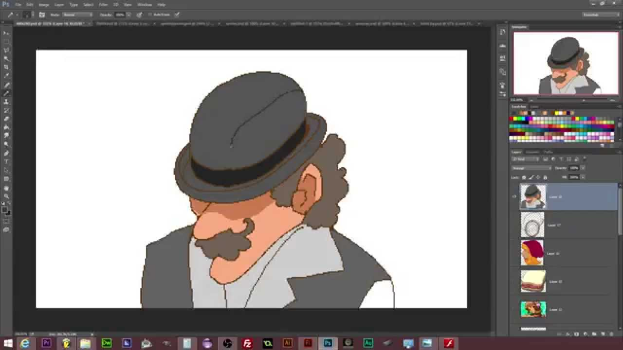 1280x720 How To Draw Cartoon Man Wearing A Bowler Hat