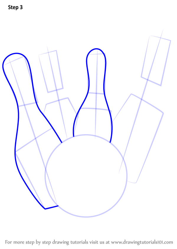 600x846 Learn How To Draw Bowling Pins (Other Sports) Step By Step