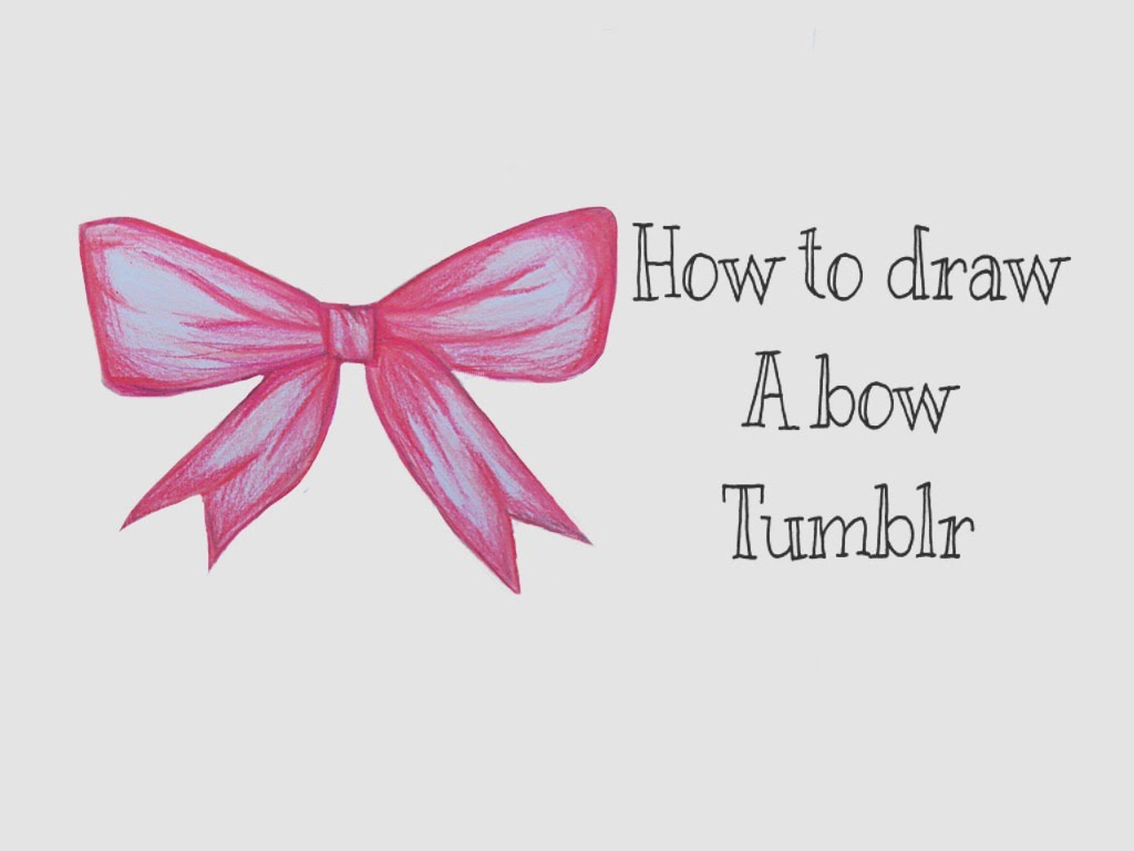 1024x768 How To Draw A Bow Tumblr