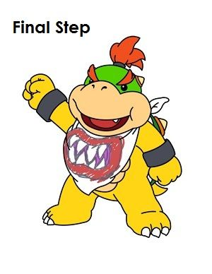 300x388 How To Draw Bowser Jr. How To Draw Bowser And Drawings