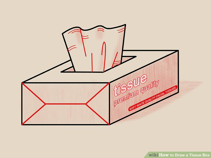 728x546 How To Draw A Tissue Box 6 Steps (With Pictures)