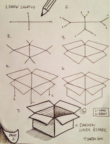 369x480 How To Draw A Box Step By Step Drawing For Kids