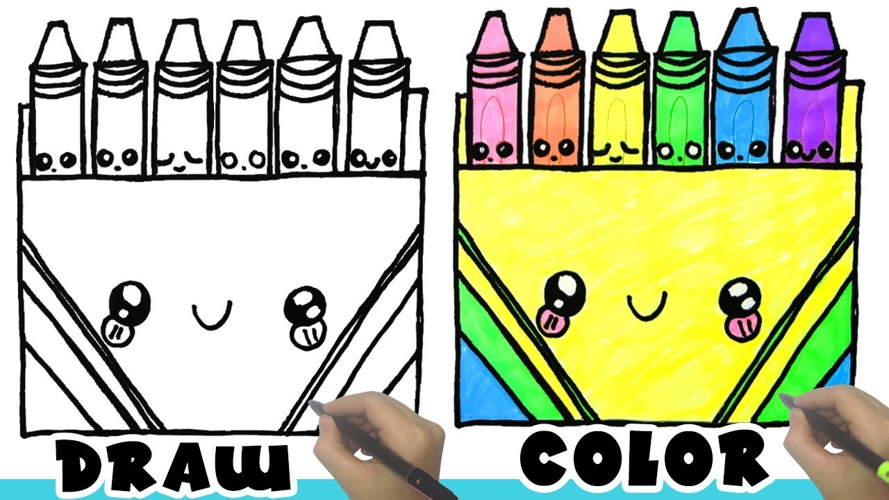1280x720 How To Draw Crayon Box Kids Learn Drawing Crayons Color