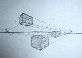 350x246 2 Point Perspective Drawing A Box Trabajos