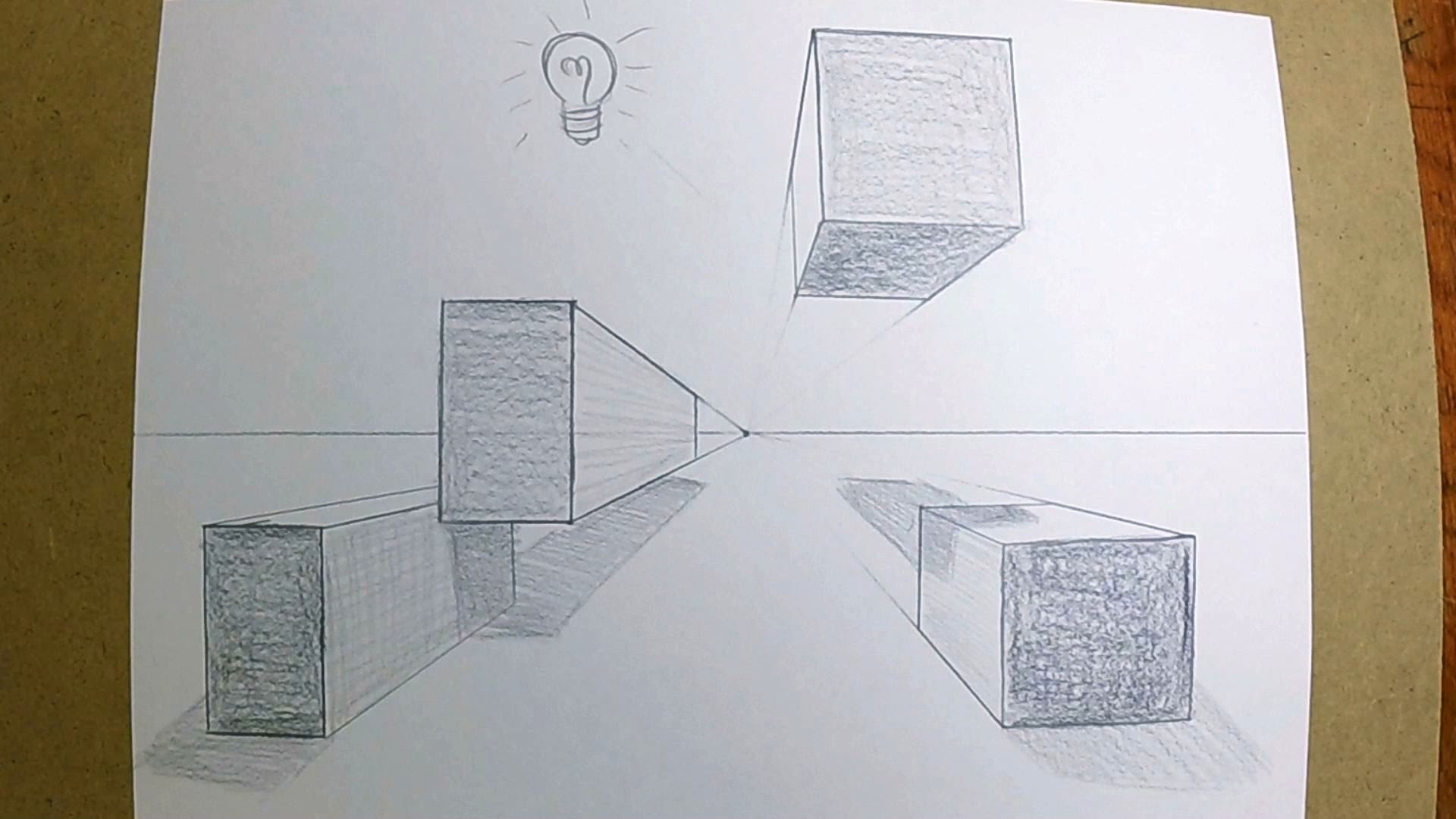 1920x1080 How To Draw Boxes In 1 Point Perspective