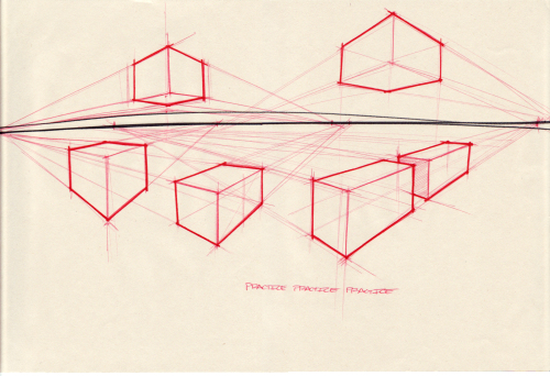 500x342 Box Perspective Exercise Teach Drawing Perspective