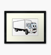 210x230 Box Truck Delivery Cartoon Haul Drawing Framed Prints Redbubble