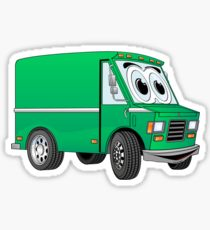 210x230 Box Truck Delivery Cartoon Haul Drawing Stickers Redbubble