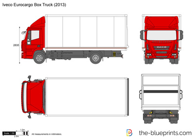 400x283 Iveco Eurocargo Box Truck Vector Drawing