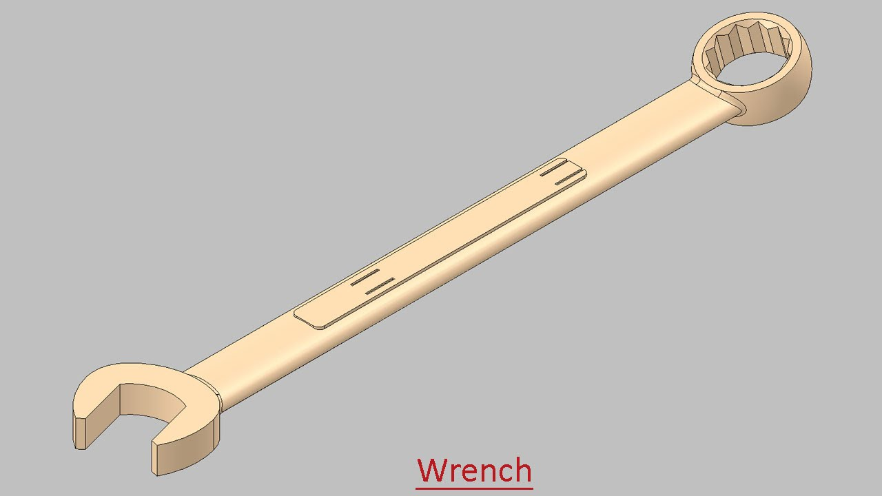 1280x720 Wrench (Video Tutorial) Solidworks