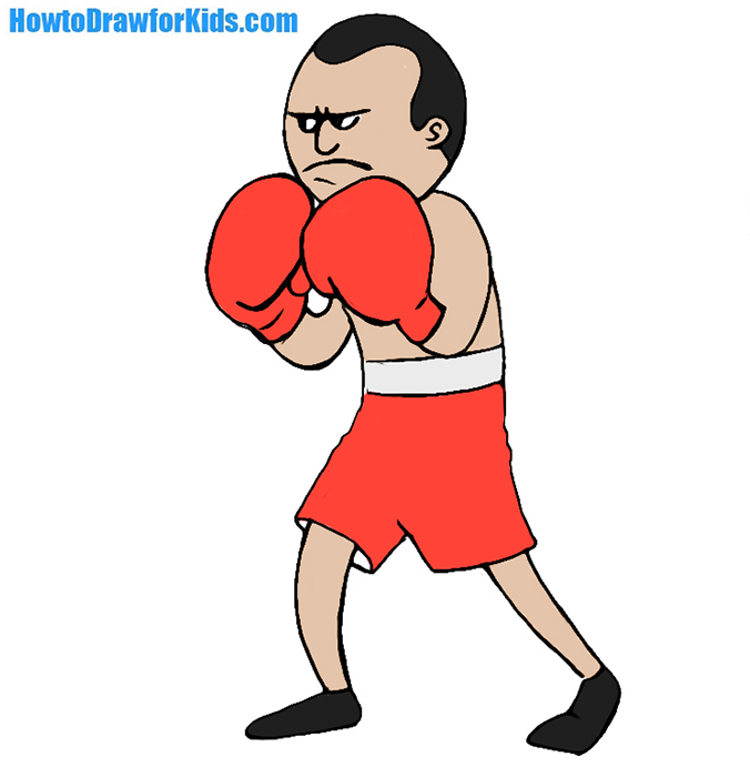 676x700 How To Draw A Boxer For Kids Howtodrawforkids