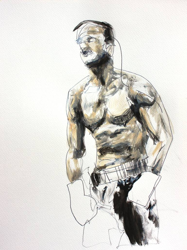 770x1025 Saatchi Art The Boxer Drawing By Ben Meyer