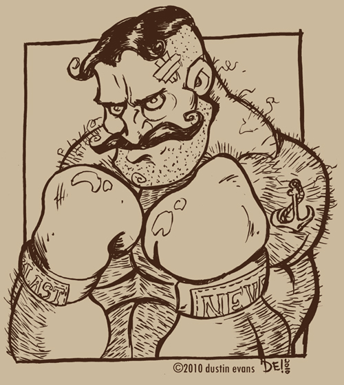 500x560 Video Live Drawing Boxer Dude By Dustinevans