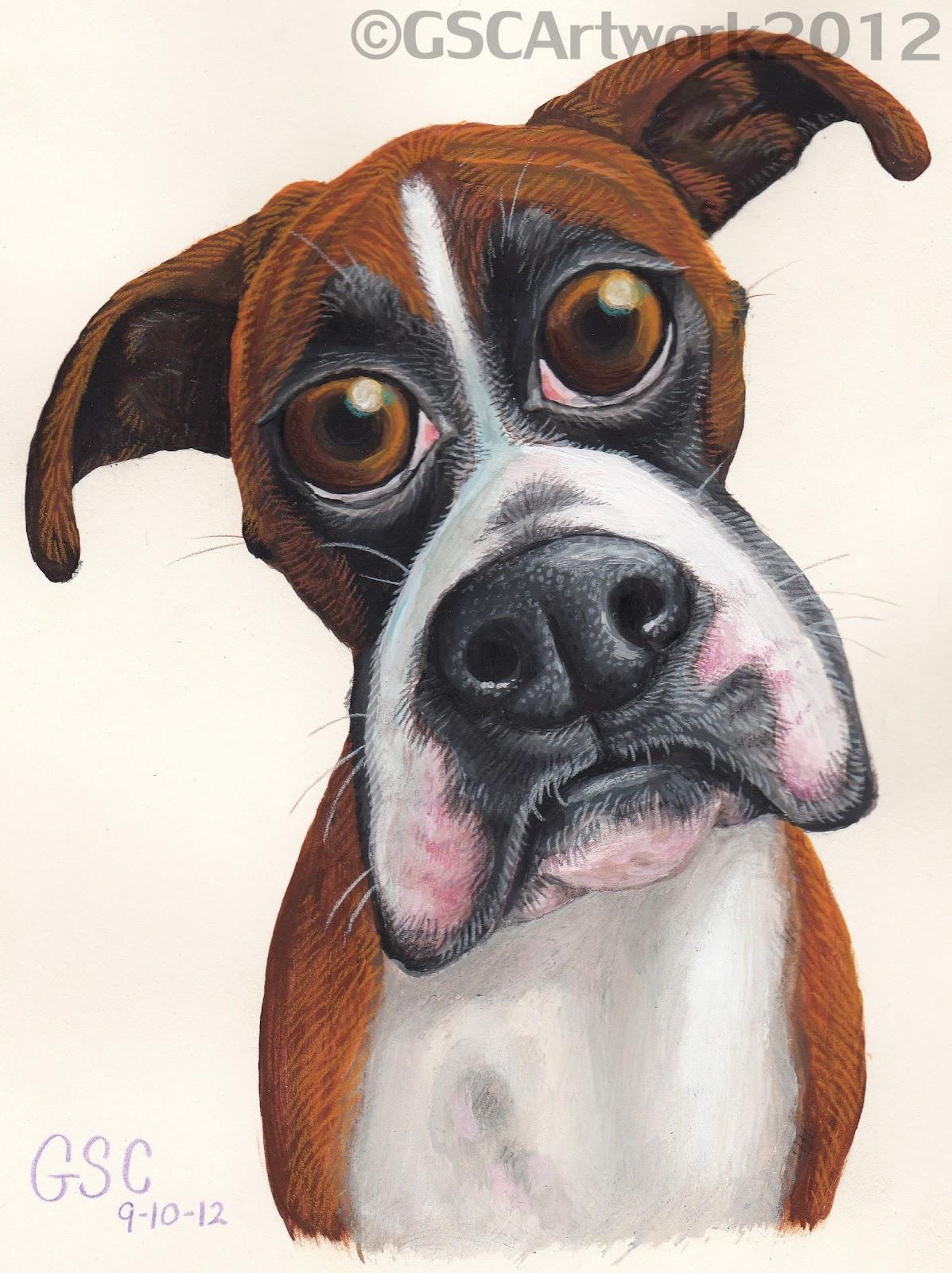 1197x1600 Bambi Boxer Dog Cartoon Painting Drawing I Love My Boxers