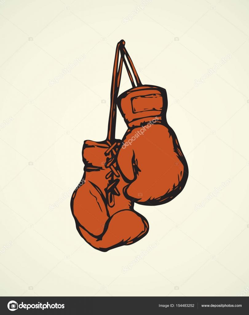 810x1024 Boxing gloves. Vector drawing Stock Vector © Marinka