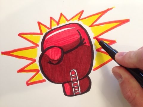 480x360 How to Draw a Boxing Glove