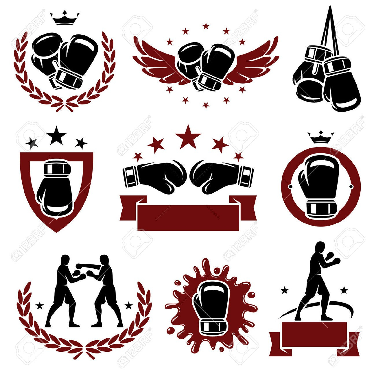 1300x1300 Boxing Glove Drawing Boxing Gloves Drawing Punching Jivdom