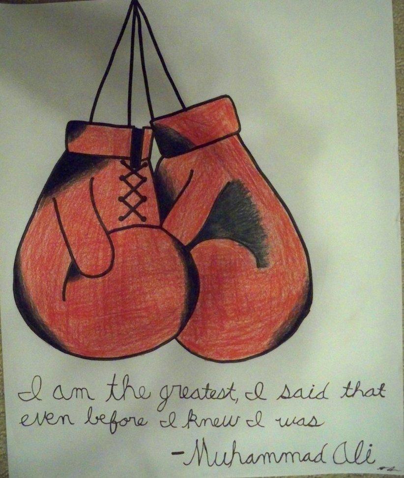 822x972 Boxing Gloves Drawing By Jordangraham20