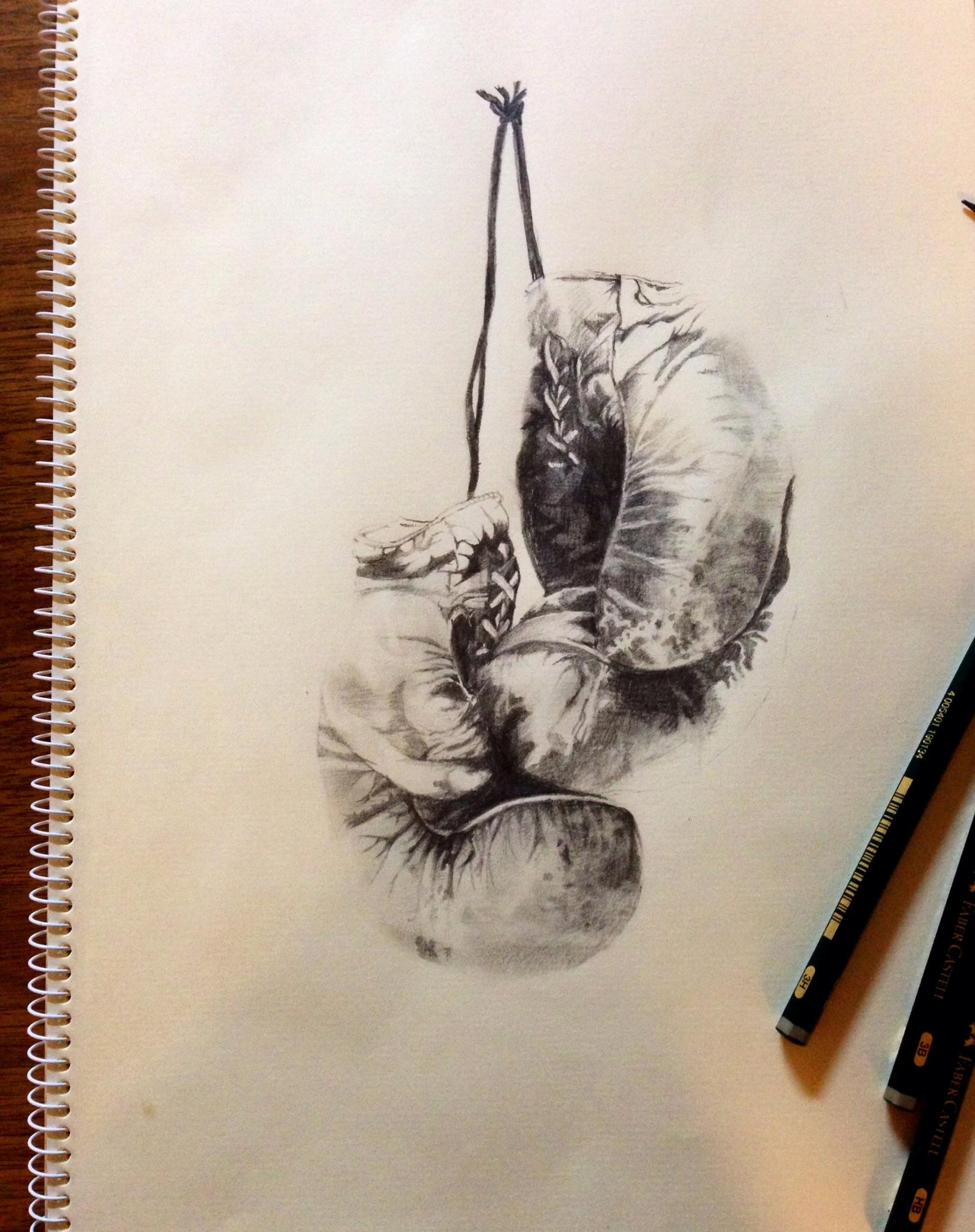 1620x2046 Pencil drawing – Boxing Gloves NOLITA JPN
