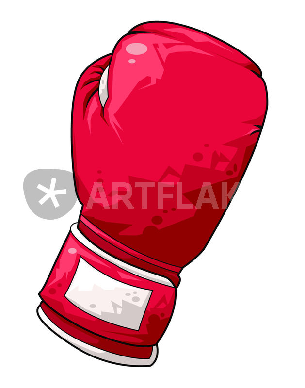 629x800 Red boxing glove Drawing art prints and posters by William Rossin