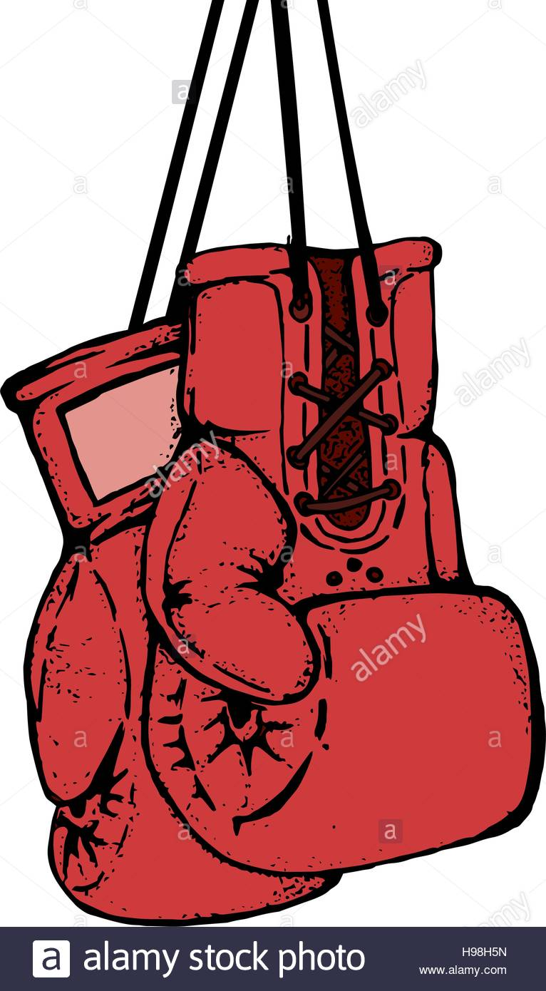 766x1390 Hand drawn boxing gloves isolated on white background. Design el