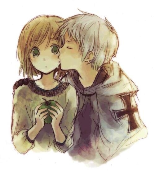 500x549 Anime Couple, Boy, Cute, Drawing, Girl