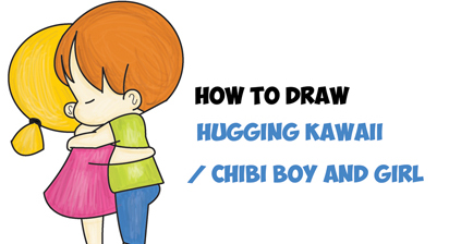 412x224 How To Draw Chibi Girl And Boy Hugging