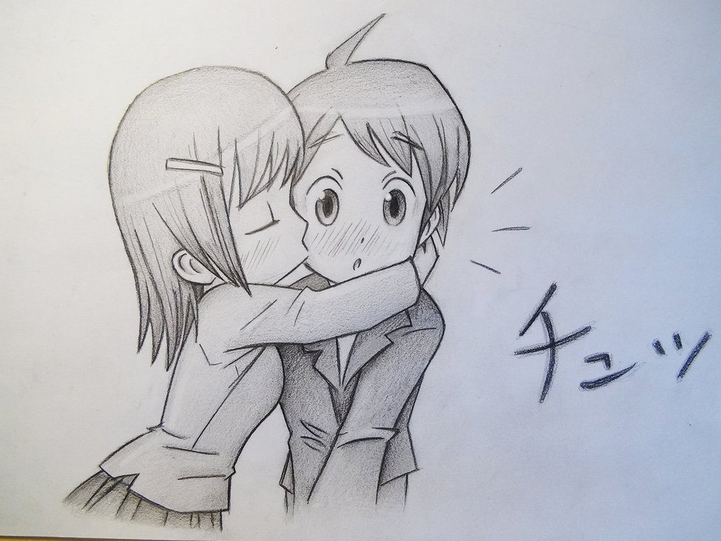 1032x774 Boy Girl Cute Drawings Cute Boy And Girl Kiss Anime Drawing