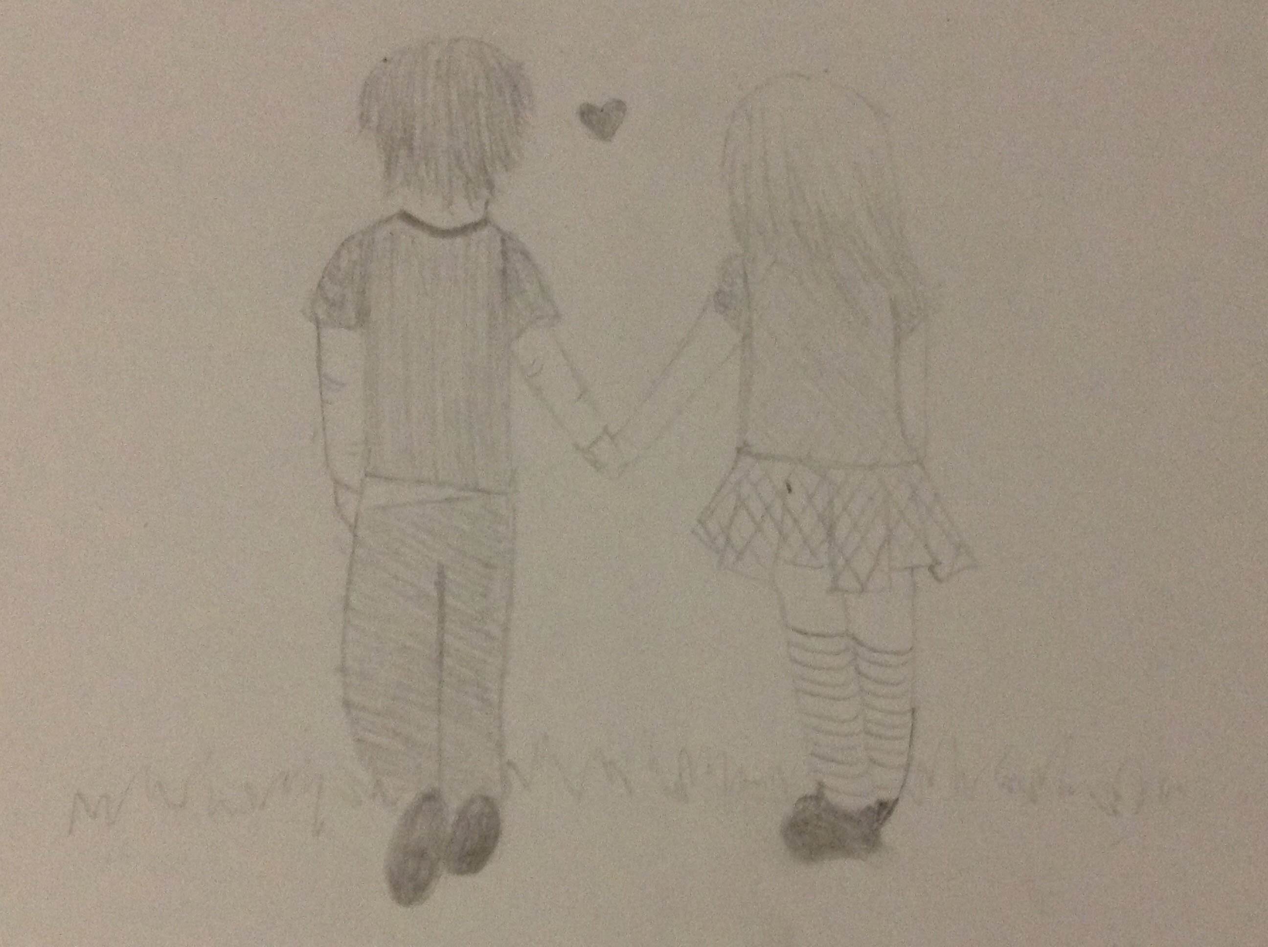 2592x1936 Speed Art Boy and Girl Holding Hands
