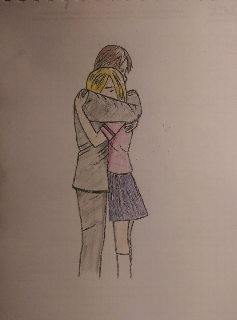 770x1038 Anime boy and girl hugging by kaisft on DeviantArt