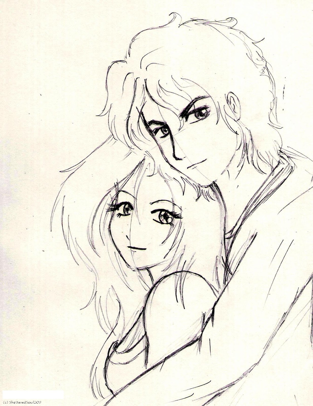 1234x1600 Boy And Girl Drawing Image Love