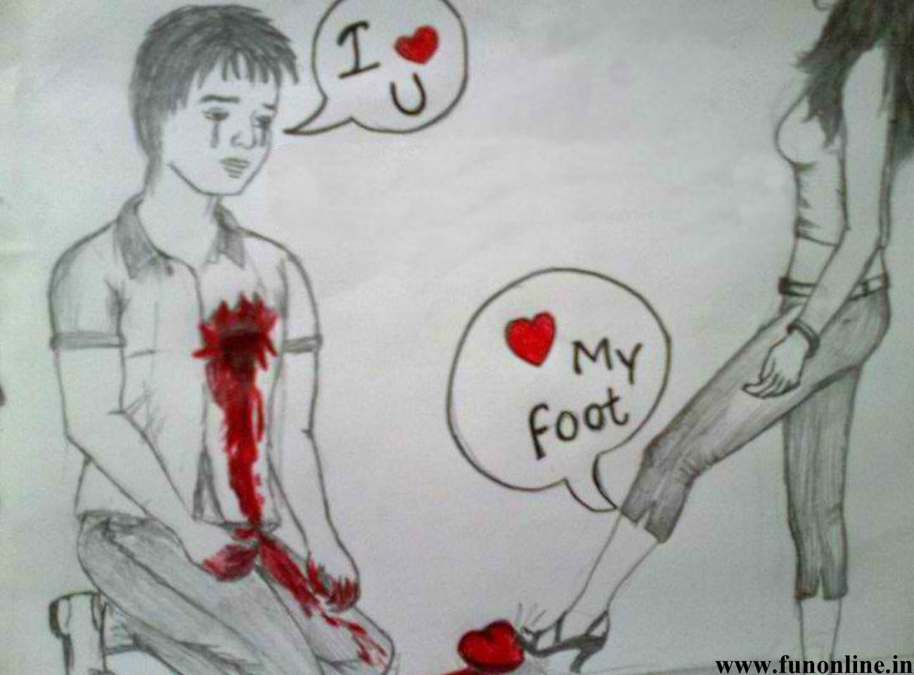 1300x960 Boy Girl Love Drawing