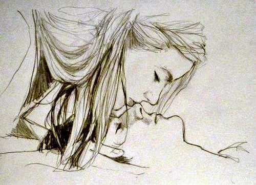 500x361 Kiss Sketch Of Boy And Girl Sketches Of Couples