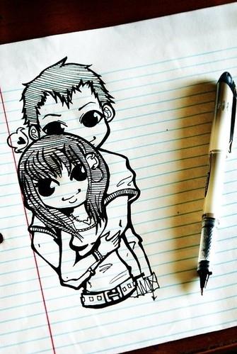 335x499 Art, Boy, Cute, Drawing, Girl, Love
