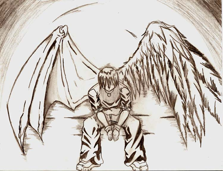 750x576 fallen angel by evill33tchaos on deviantart