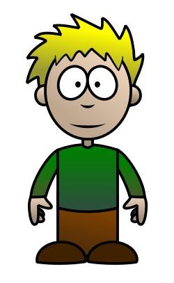 250x407 Drawing A Cartoon Boy